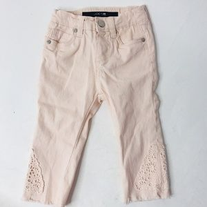 JOE'S Jeans Pink Lace Skinny Baby Jeans Size 24 M
